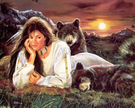 Сонник: видеть медведя во сне, убегать от медведя, медведь с ...