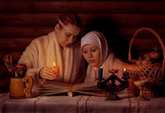 Обряд со свечой, обряд с хлебом, ритуал с красной нитью и водой