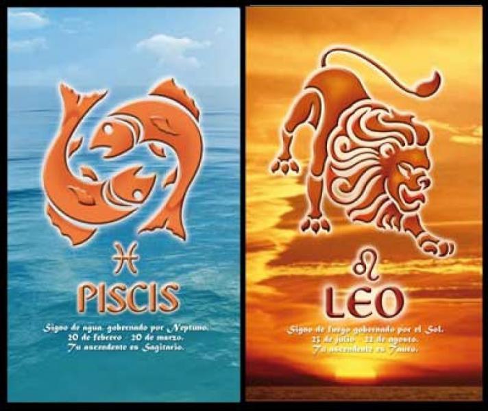 Гороскоп любовной совместимости Рыбы и Лев